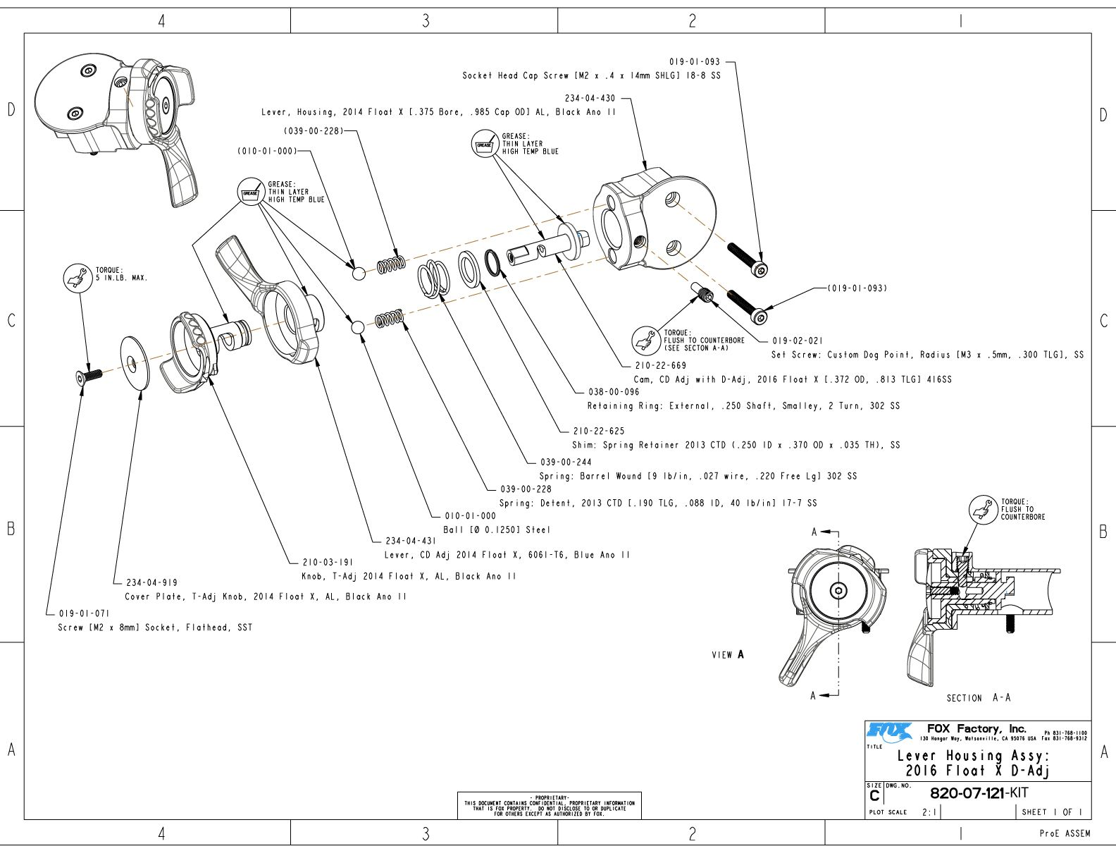 float x part information bike help center fox 05 Acura TL 820 07 121 kit lever housing assy 2016 float x d adj