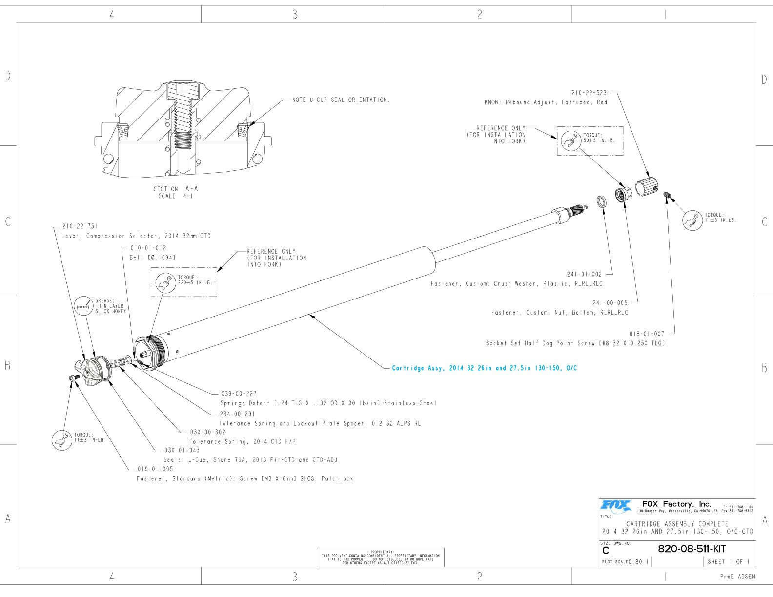 Details about  /Fox U-Cup Damper Seal 2013 FIT CTD Trail Adj Remote FIT CTD and Remote O//C