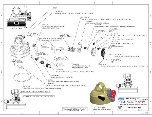 Bike Rear Shock Spare Fox Shox Float Dps Volume Spacer 0.6 Plastic Yellow