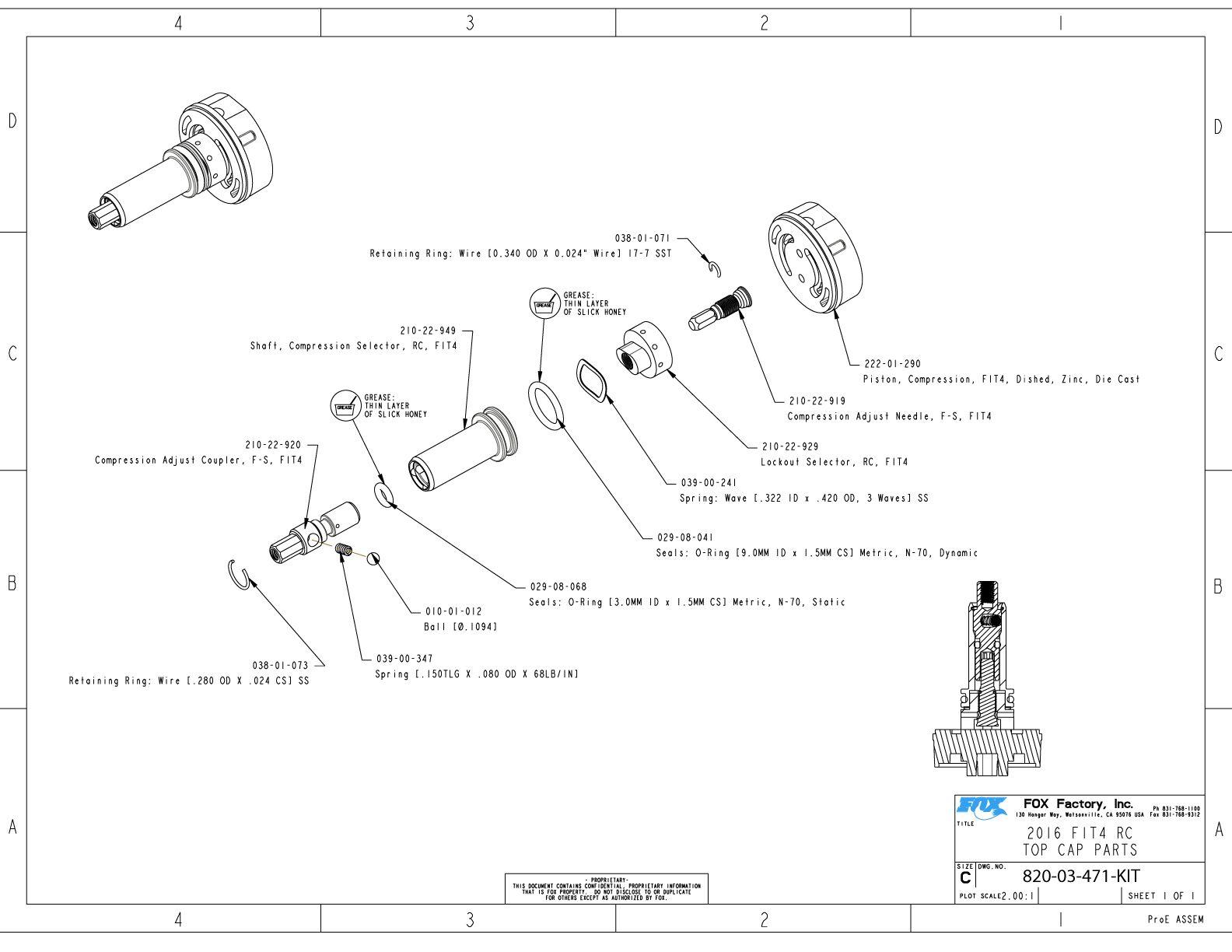 40mm Part Information Bike Help Center Fox 03 Big Dog Wiring Diagram 820 471 Kit 2016 Fit4 Rc Top Cap Parts