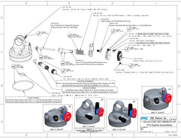 9mm Shaft 803-01-250 Fox Suspension Float CTD//DPS Air Volume Tuning Kit