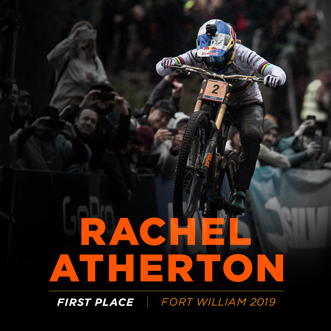 Rachel Atherton 2019 UCI World Cup winner, Fort William