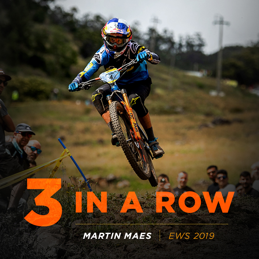 MArtin Maes 3 back to back EWS wins