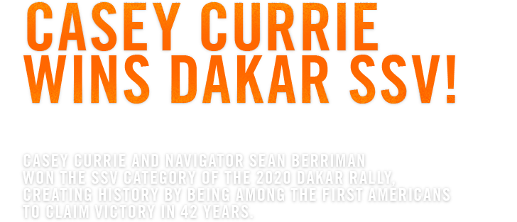 Casey Currie Wins Dakar SSV