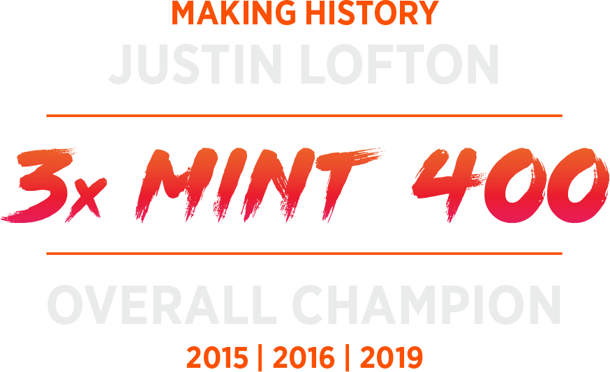 Justin Lofton 2019 Mint 400 Winner